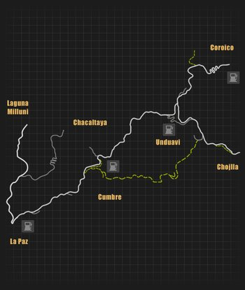 Yungas mapa