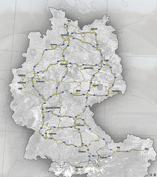 GTS mapa