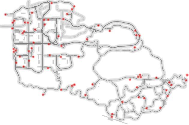Mapa bonusů volná jízda