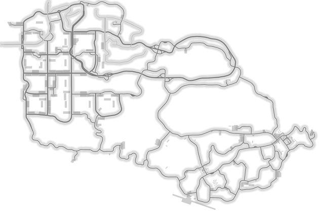 Volná jízda mapa